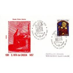 FDC Italia 1981 Rodia Unif 1553 Santa Rita da Cascia A/S Cascia