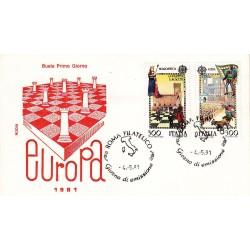 FDC Italia 1981 Rodia Unif 1551/2 Europa Folclore A/F Roma