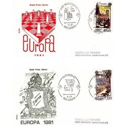 FDC Italia 1981 Rodia Unif 1551/2 Europa Folclore A/S