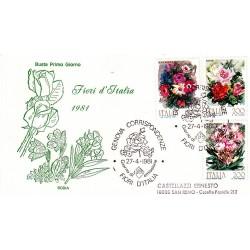 FDC Italia 1981 Rodia Unif 1548/50 Flora Italiana A/S Genova