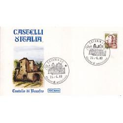 FDC Italia 1983 Roma 1651 Castelli d'Italia 400 A/F Catania