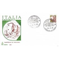 FDC Italia 1983 Capitolium 1651 Castelli d'Italia 400 A/F Matera