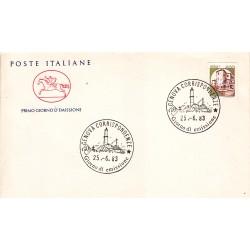 FDC Italia 1983 Cavallino APG 1651 Castelli d'Italia 400 A/F Genova