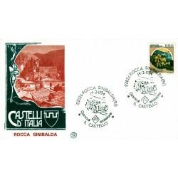 FDC Italia 1984 Filagrano Unif 1674 Castelli d'Italia Rocca A/S Rocca Sinibalda
