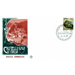 FDC Italia 1984 Filagrano Unif 1674 Castelli d'Italia Rocca A/F Genova