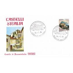 FDC Italia 1984 Roma 1674 Castelli d'Italia 550 Rocca Sinibalda A/F Matera