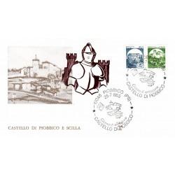 FDC Italia 1984 ALA Unif 1737/8 Castelli d'Italia Piombino e Scilla A/S