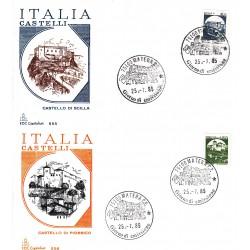 FDC Italia 1985 Capitolium 1737/8 Castelli d'Italia Bobina Scilla A/F Matera