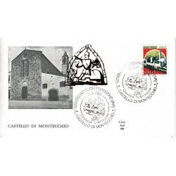 FDC Italia 1986 ALA Unif 1765 Castelli d'Italia 650 Castello di montecchio A/S