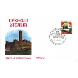 FDC Italia 1986 Roma Unif 1765 Castelli d'Italia 650 Castello di montecchio A/F UDINE