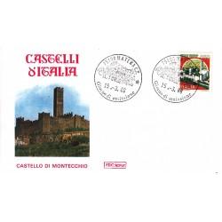 FDC Italia 1986 Roma Unif 1765 Castelli d'Italia 650 Castello di montecchio A/F Modena