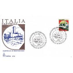 FDC Italia 1986 Capitolium Unif. 1765 Castelli d'Italia 650 Castello di Montecchio A/S