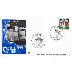 FDC Italia 1990 Filagrano Unif. 1962 Castelli d'Italia 750 Rocca di Urbisaglia A/S