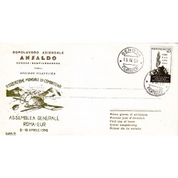 FDC Italia 1959 Ansaldo Unif. 858 Associazione Ex Combattenti A/O Genova