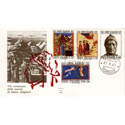 FDC Italia 1965 ALA Unif 1004 Dante Alighieri A/O Firenze