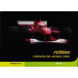 IT Repubblica 2001 Folder 09/03/2001 Ferrari Campione del Mondo 2000 - nuovo cpl., val. facciale - € 15,30