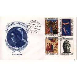 FDC Italia 1965 RODIA Unif. 1004/7 Dante Alighieri a/o Salerno