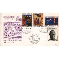 FDC Italia 1965 Capitolium Unif. 1004/7 Dante Alighieri A/O Roma v