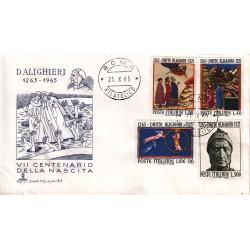 FDC Italia 1965 Capitolium Unif. 1004/7 Dante Alighieri A/O Roma b