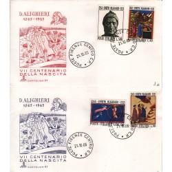 FDC Italia 1965 Capitolium Unif. 1004/7 Dante Alighieri A/O Roma c