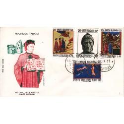 FDC Italia 1965 Filagrano Unif. 1004/7 Dante Alighieri A/O Firenze