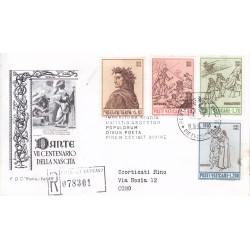 FDC VATICANO 1965 Roma Unif. 410/13 Dante Alighieri v02