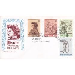 FDC VATICANO 1965 Roma Unif. 410/13 Dante Alighieri c01