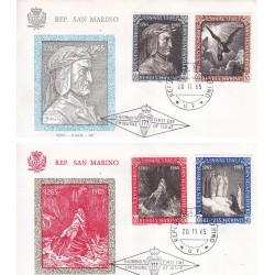 FDC SAN MARINO 1965 F.A.I.P. Unif 700/03 Dante Alighieri
