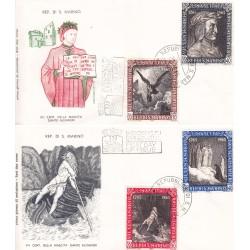 FDC SAN MARINO 1965 Filagrano Unif 700/03 Dante Alighieri
