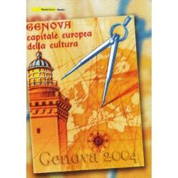 IT Repubblica 2004 Folder 012/02/2004 Genova capitale europea della cultura - nuovo cpl. val. facciale € 7.00