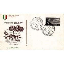 FDC ITALIA 1955 A.I.C.F.D.C. Unif 792 Giovanni Pascoli A/O Trieste