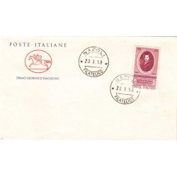 FDC ITALIA 1958 Cavallino Unif. 842 Evangelista Torricelli a/o Napoli