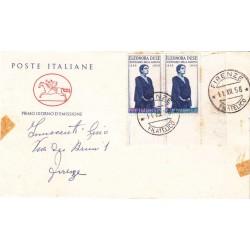 FDC ITALIA 1958 Cavallino Unif. 848 Eleonora Duse a/o Firenze