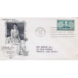 FDC USA US0974 - A421 - 29/10/1948 3c Juliette Low, organizerof the Girl Scouts of America. Savannah, GA