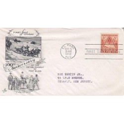 FDC USA US0976 05/11/1948 3c henna brown - Centenary of Fort Bliss, Texas.