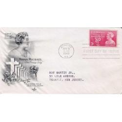 FDC USA US0977 - A424 - 09/11/1948 3c Moina Michael (1870-1944), Athens, GA