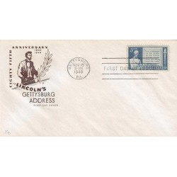 US0978 - A425 - 19/11/1948 3c 5th anniv. of Abraham Lincoln's address at Gettysburg, Pa
