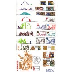 FDC Vaticano Venetia Club 1980 Anno completo 9 buste raccomandate