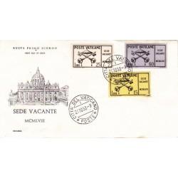 FDC Vaticano Ecclesia 1958 Unif. 247/49 Sede Vacante