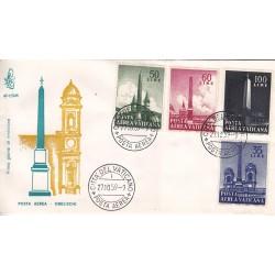 FDC Vaticano Venetia Club 1959 Unif. A35/A44 Posta Aerea Obelischi