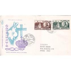 FDC Vaticano Venetia Club 1959 Unif. 267/68 San Casimiro