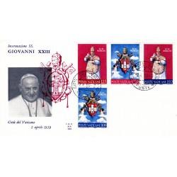 FDC Vaticano Ala 1959 Unif. 250/53 Incoronazione di Giovanni XXIII