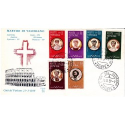 FDC Vaticano Ala 1959 Unif. 254/59 Martiri Valeriano