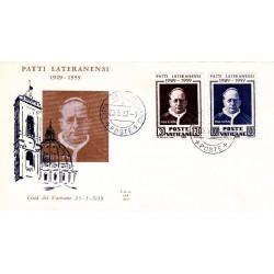 FDC Vaticano Ala 1959 Unif. 2660/61 Patti Lateranensi