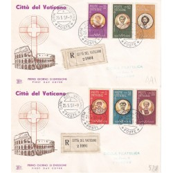 FDC Vaticano Chimera 1959 Unif. 254/59 Martiri Valeriano