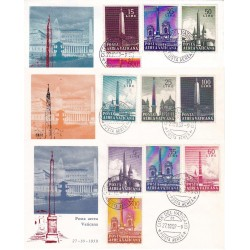 FDC Vaticano Ala 1959 Unif. A35/A44 Posta Aerea Obelischi