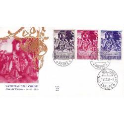 FDC Vaticano Ala 1959 Unif. 264/66 Natale