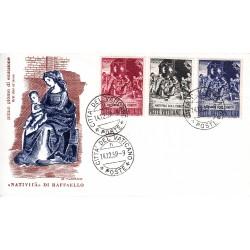 FDC Vaticano Filagrano 1959 Unif. 264/66 Natale