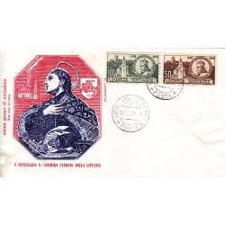 FDC Vaticano Filagrano 1959 Unif. 267/8 San Casimiro