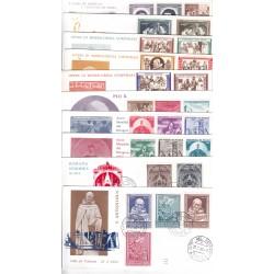 FDC Vaticano Ala 1960 Unif. 269/97 Anno Completo 10 buste